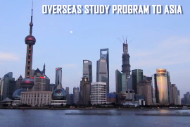 A snapshot of China as the opening sequence to the Overseas Study Program to Asia video