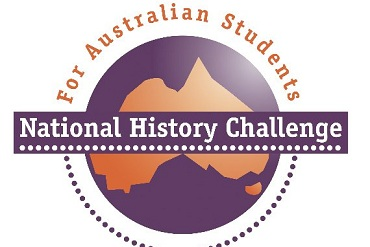 Map of Australia with National History Challenge overlaid