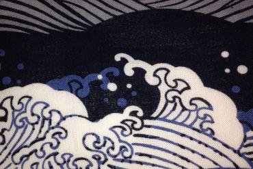Japanese waves blue