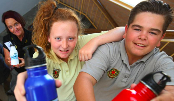 Illawarra Sports High in Bali bottle project