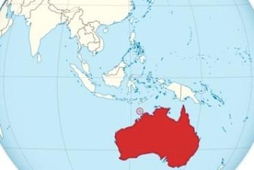 Map of the Asia region, including Australia