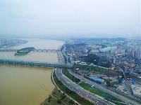 The Han River in Seoul, the capital of South Korea
