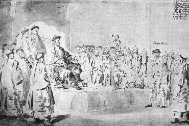 Drawing of Lord McCartney's embassy to China