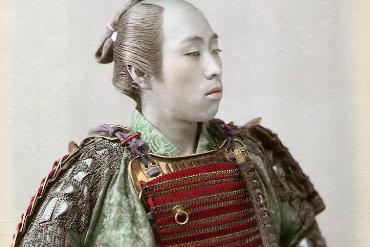 Japanese samurai circa 1890
