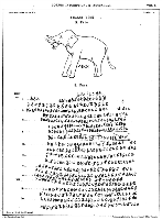 Paper copy of diagram of elephant and inscription of the edicts of Khalsi which are about the battle of Kalinga and how no-one should suffer as long as they follow dhamma