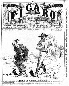 Cover of the Queensland figaro 14 July 1888