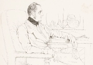 Sketched Portrait of James Prinsep 1838