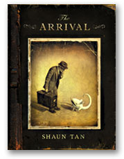 Cover for the book The Arrival by Shaun Tan