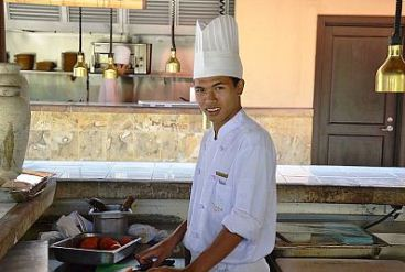 An Ayana chef in Indonesia