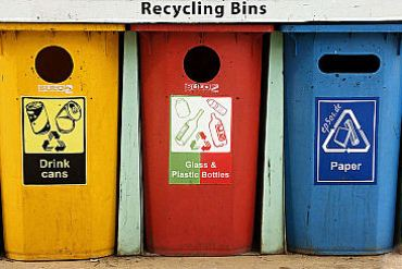 3 different types of recycling bins in Indonesia
