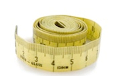 A soft ruler or tape measure