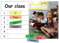 Table for collecting class names