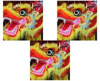 Colourful Chinese dragon costume