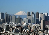 Tokyo city with Mount Fuji in the background