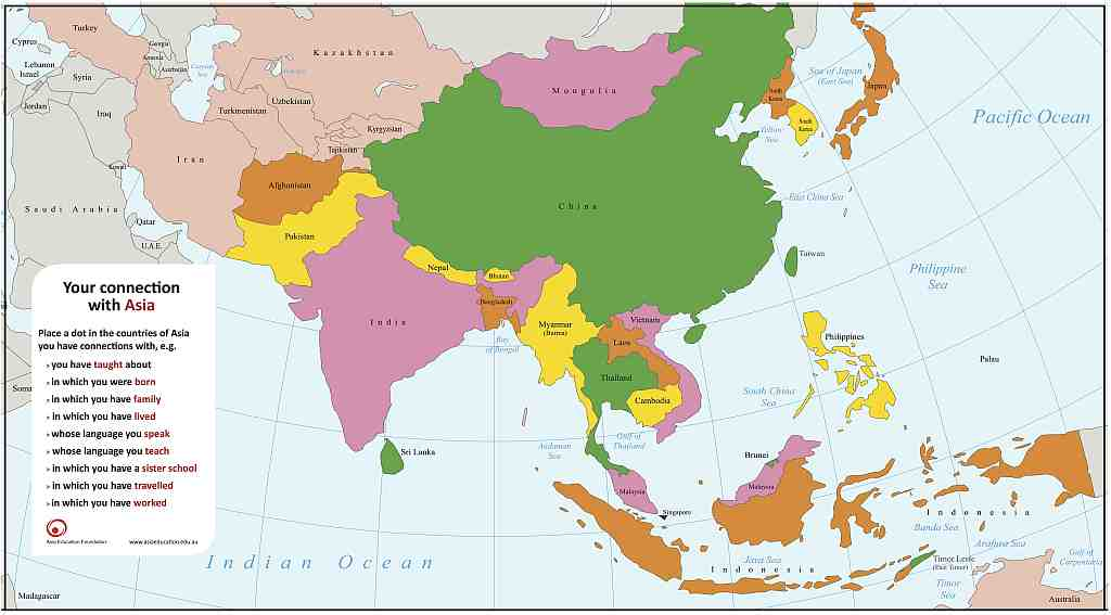 Details Asia Education Foundation: Map Of Asia For Students At Infoasik.co
