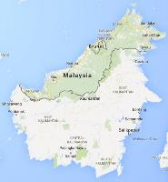 Google map of Borneo