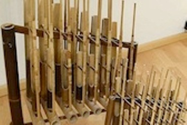 two angklung instruments