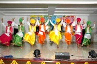Dancers in colourful costumes