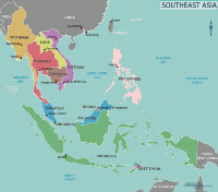 Map showing countries of Southeast Asia