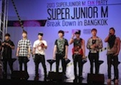 Super Junior-M at a press conference