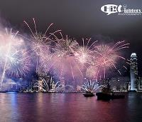 Hong Kong fireworks for Chinese New Year