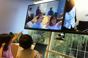Students communicate via Skype