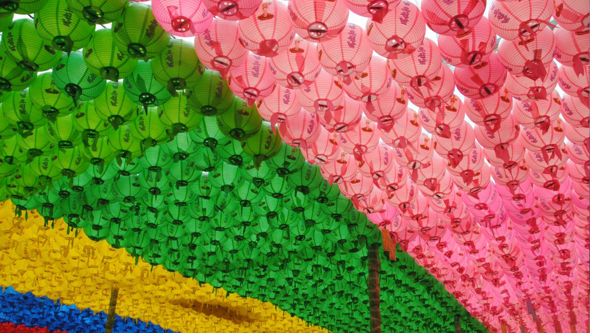 Korean Lanterns of different colours